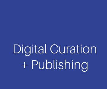The words Digital Curation + Publishing