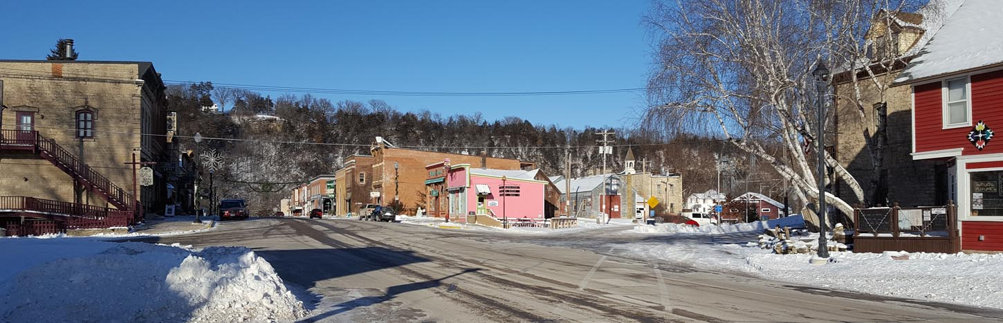 A street view of Lanesboro, Minnesota